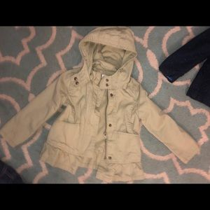 🎀 3T Army Green, Cargo-Style Hooded Jacket Hoodie